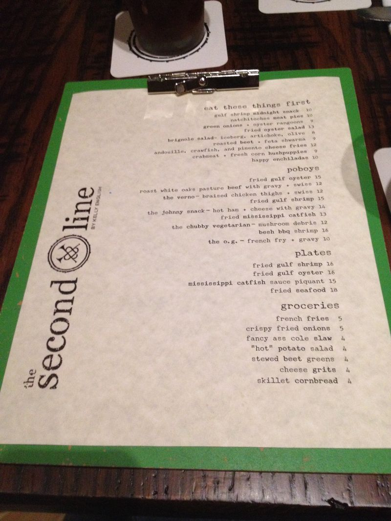 Second Line Menu